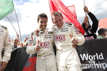 Race winners Frdric Makowiecki and Yann Clairay