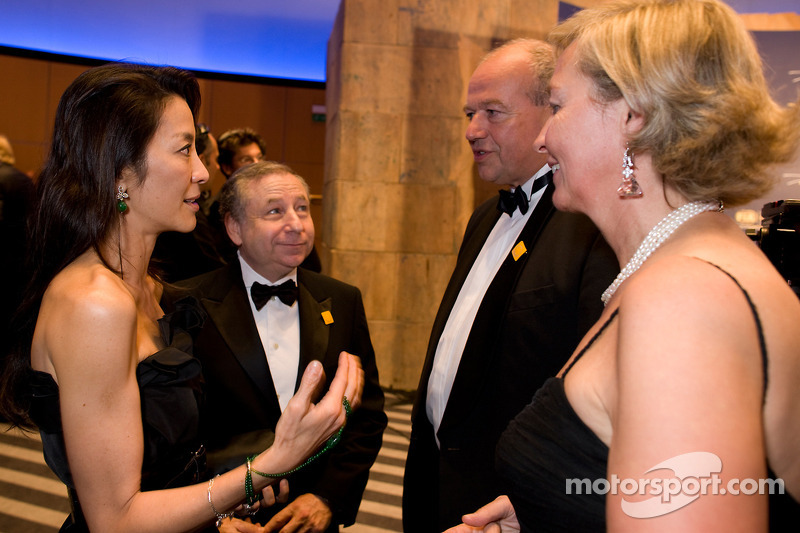 FIA President Jean Todt and Michelle Yeoh with guests at the 2010 FIA Prize Giving Gala in Monaco