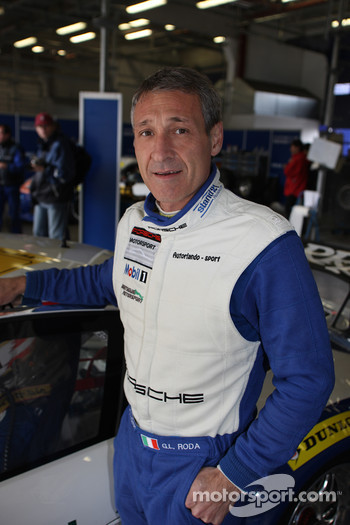 Gianluca Roda, winner of the 2010 Porsche Cup