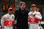 Lewis Hamilton, McLaren Mercedes, Fritz Joussen, CEO Vodafone Germany, Jenson Button, McLaren Mercedes