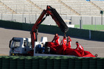 Felipe Massa, Scuderia Ferrari stops on track