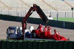 Felipe Massa, Scuderia Ferrari stops on track