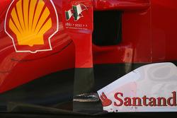 Scuderia Ferrari technical detail, side pod