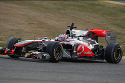 Jenson Button, McLaren Mercedes in last years car