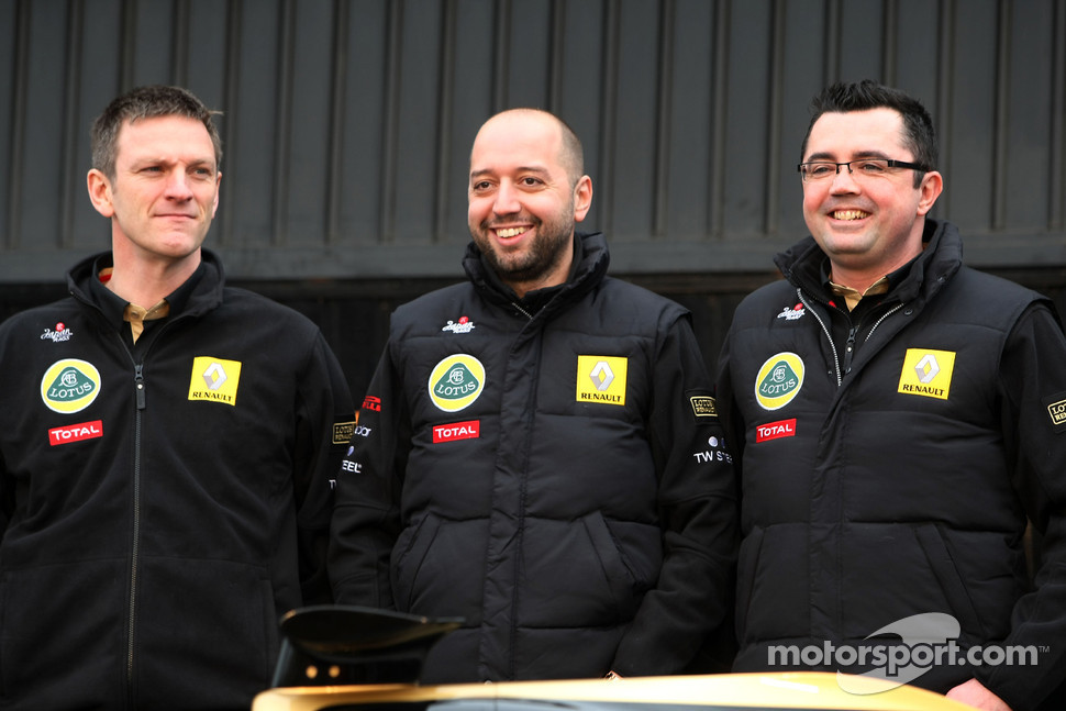 Gerard Lopez, Lotus Renault GP owner and Eric Boullier, Team Principal, Lotus Renault GP