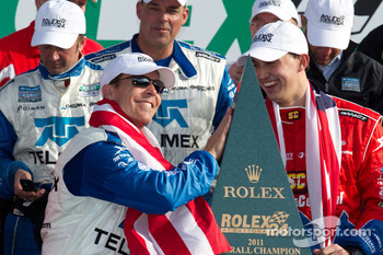 DP victory lane: class and overall winners Scott Pruett and Graham Rahal celebrate