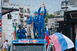 Podium: truck category winners Vladimir Chagin, Sergey Savostin and Ildar Shaysultanov