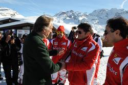 Luca di Montezemolo, Fernando Alonso, Giancarlo Fisichella, Felipe Massa