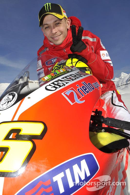 Valentino Rossi, Ducati, at the Ducati Desmosedici GP11 presentation