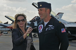USAF Thunderbirds: Major Aaron Jelinek, the lead pilot, being interviewed