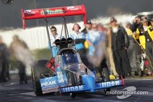 T. J.. Zizzo in his Peak Performance Top Fuel Dragster