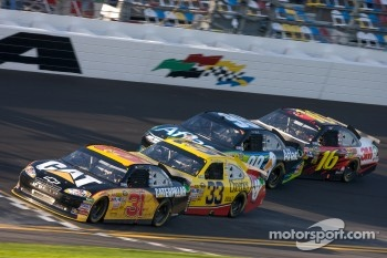 Jeff Burton, Richard Childress Racing Chevrolet, Clint Bowyer, Richard Childress Racing Chevrolet, Carl Edwards, Roush Fenway Racing Ford and Greg Biffle, Roush Fenway Racing Ford
