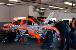 Damaged car of Jamie McMurray, Earnhardt Ganassi Racing Chevrolet