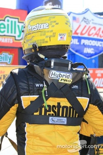 Spenser Massey exiting his Fram / Prestone Top Fuel dragster