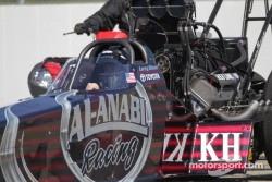 Larry Dixon in his Al-Annabi Racing Top Fuel Dragster
