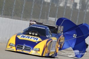 Ron Caps in his NAPA Auto Parts Dodge Charger
