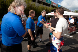 Sébastien Bourdais, Dale Coyne Racing meets his former team mates at Newman/Haas Racing