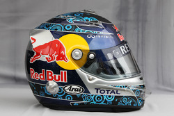 Helmet of Sebastian Vettel, Red Bull Racing