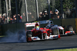 Felipe Massa, Scuderia Ferrari ans Sergio Perez, Sauber F1 Team