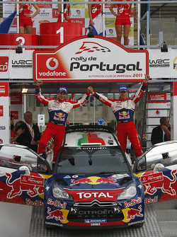 Podium: winners Sébastien Ogier and Julien Ingrassia, Citroen DS3 WRC, Citroen Total World Rally Team