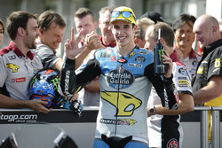Third position Alex Marquez, Marc VDS in parc ferme