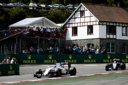 Felipe Massa, Williams FW38 Mercedes, leads Sergio Perez, Force India VJM09 Mercedes