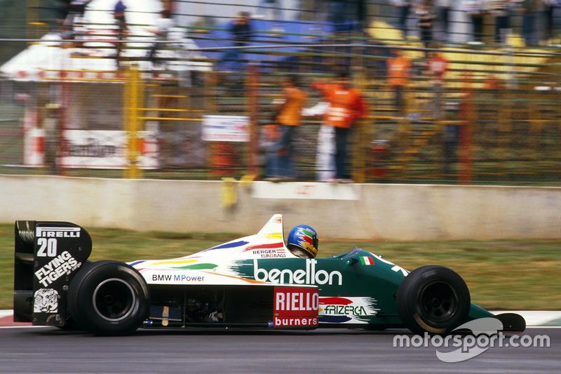 Für Gerhard Berger, der im Winter von Arrows zu Benetton gewechselt hat, ...