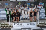 Class winners podium: P1 and overall winners Klaus Graf and Lucas Luhr, PC winners Gunnar Jeannette and Ricardo Gonzalez, GT winners Dirk Mller and Joey Hand, P2 winners Scott Tucker and Christophe Bouchut, GTC winners Tim Pappas and Jeroen Bleekemolen