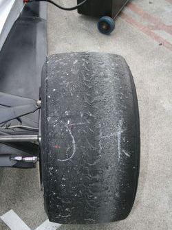 Tyre wear before the race
