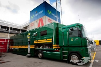 Lotus ART truck in the paddock