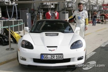 Oliver Gavin with a street Chevrolet Corvette C6 - ZR1