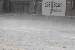 Heavy rain over Hockenheim