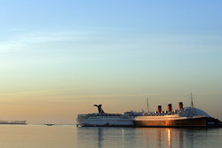 Sunrise on the Queen Mary