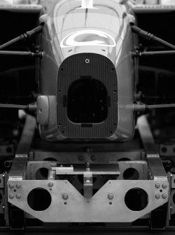 Tech inspection for Newman Haas Racing car