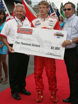 Drivers presentation: Sébastien Bourdais accepts the pole award check