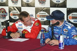 Sébastien Bourdais and A.J. Allmendinger discuss the day's qualifying times