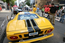 Ford Racing Festival on Crescent street: Ford GT cars on display