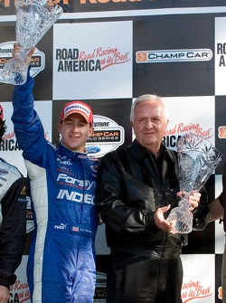 Podium: race winner A.J. Allmendinger with Gerry Forsythe