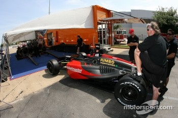 The Minardi Team USA  car of Dan Clarke at tech inspection