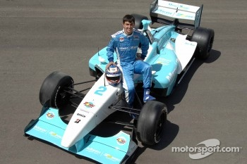 Graham Rahal poses with the Newman Hass Lanigan Racing Panoz DP01