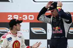 Podium: Sébastien Bourdais still unhappy with Robert Doornbos