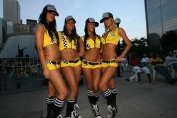 Street party: lovely Steelback girls