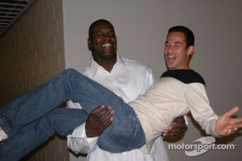 Helio Castroneves and Shaquille O'Neal