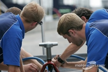Forsythe Racing crew members at work