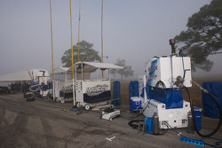 Forsythe Pettit Racing pit area
