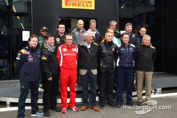 Martin Whitmarsh, McLaren, Chief Executive Officer, Eric Boullier, Team Principal, Lotus Renault GP, Stefano Domenicali, Scuderia Ferrari Sporting Director, Christian Horner, Red Bull Racing, Sporting Director, Sir Richard Branson, Virgin Group CEO, Norbe