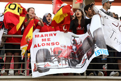 A banner in the crowd for Fernando Alonso, Scuderia Ferrari