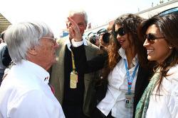Bernie Ecclestone with Afef Jnifen, Pirelli's President)