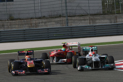 Jaime Alguersuari, Scuderia Toro Rosso and Michael Schumacher, Mercedes GP F1 Team