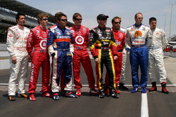 Larry Foyt, Ryan Briscoe, Kosuke Matsuura, Scott Dixon, Scott Sharp, Richie Hearn, Jaques Lazier and Patrick Carpentier